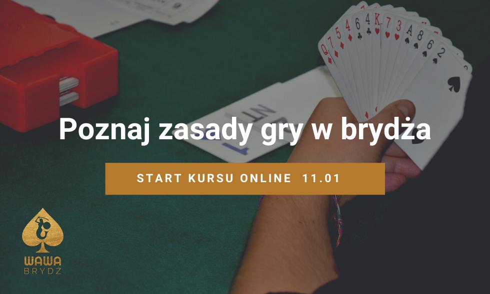Poznaj zasady gry – kurs brydża online od 11 stycznia!